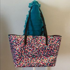 Kate Spade Multicolor Dot Leather Tote